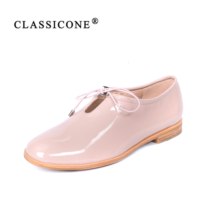 women shoes woman scoop spring autumn flats with genuine leather lace-up fashion brand style designers handmade sexy CLASSICONE alluring lace spliced scoop neck women s cover up