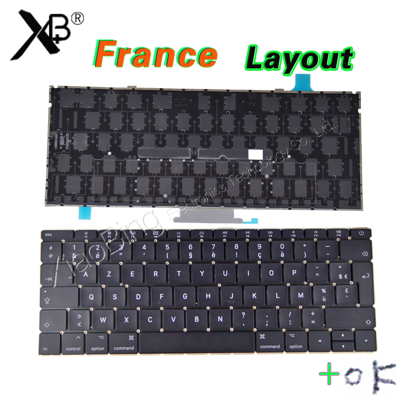 New Laptop A1534 French Keyboard Backlight Backlit Screws for Macbook 12 A1534 FR AZERTY FRANCE Keyboard