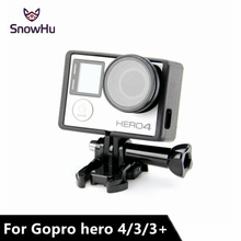 SnowHu Anti-exposed lens frame Protective Lens Cover +Standard Frame for Gopro Hero 4 3+ Case Protector Mount LD01