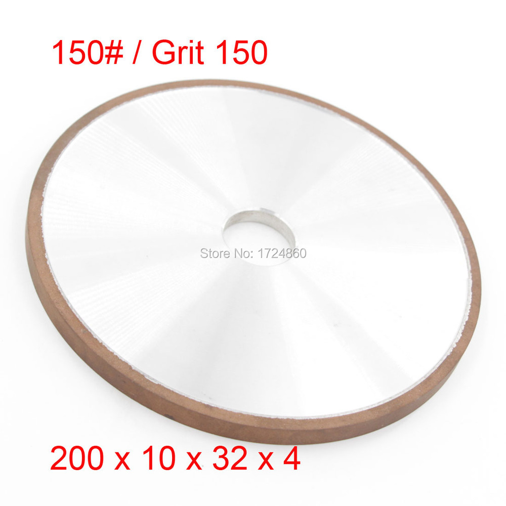 ФОТО Plain Wheel Diamond Coated Resin 150 Grit Abrasive Grinding Wheels Disc China 200mm x 32mm Tools on Sales