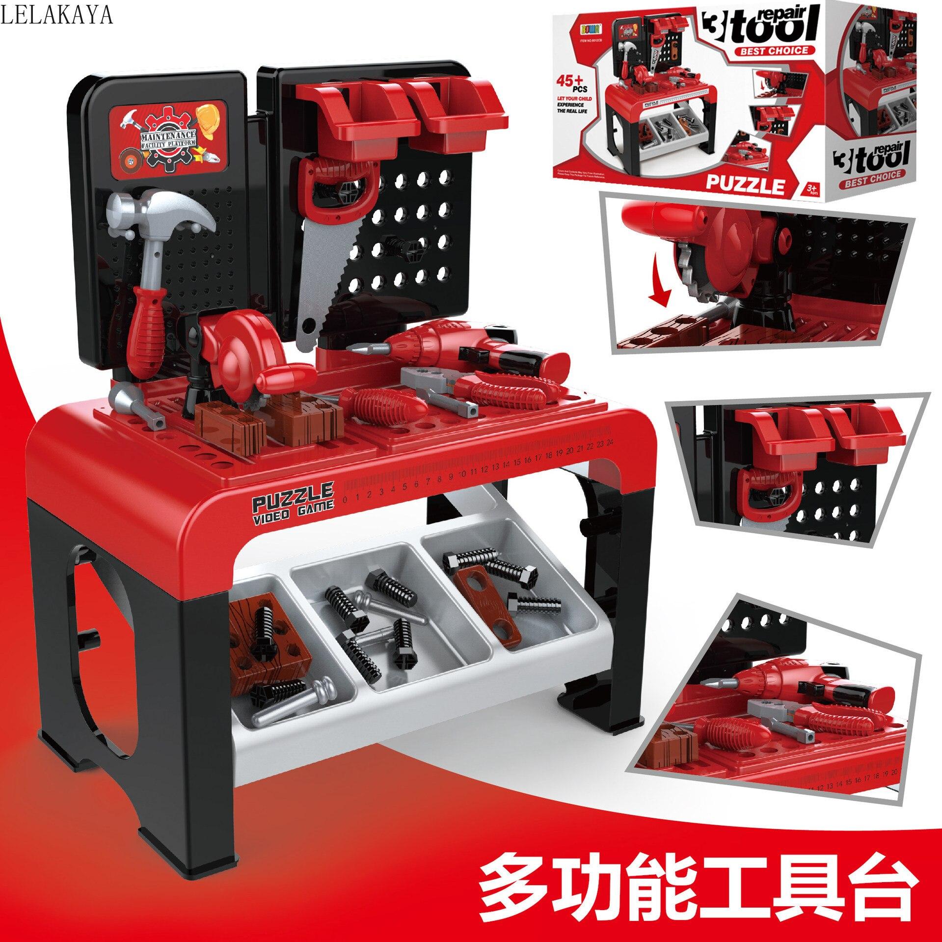 Bricolage semblant jouer dessin animé en plastique enfants mode cadeau jeu de rôle Puzzle réparation outil jouets ensemble multi-outils Table Cosplay jouet poupée
