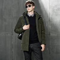 Winter Mens Jackets and Coats Middle long Business Casual New 2018 Parka Warm Windbreaker Comfortable Brand Clothing