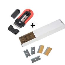 EHDIS Car Vinyl Wrap Ceramic Glass Oven Razor Scraper+100pcs Blade Carbon Fiber Film Wrapping Sticker Glue Remover Squeegee Tool стоимость