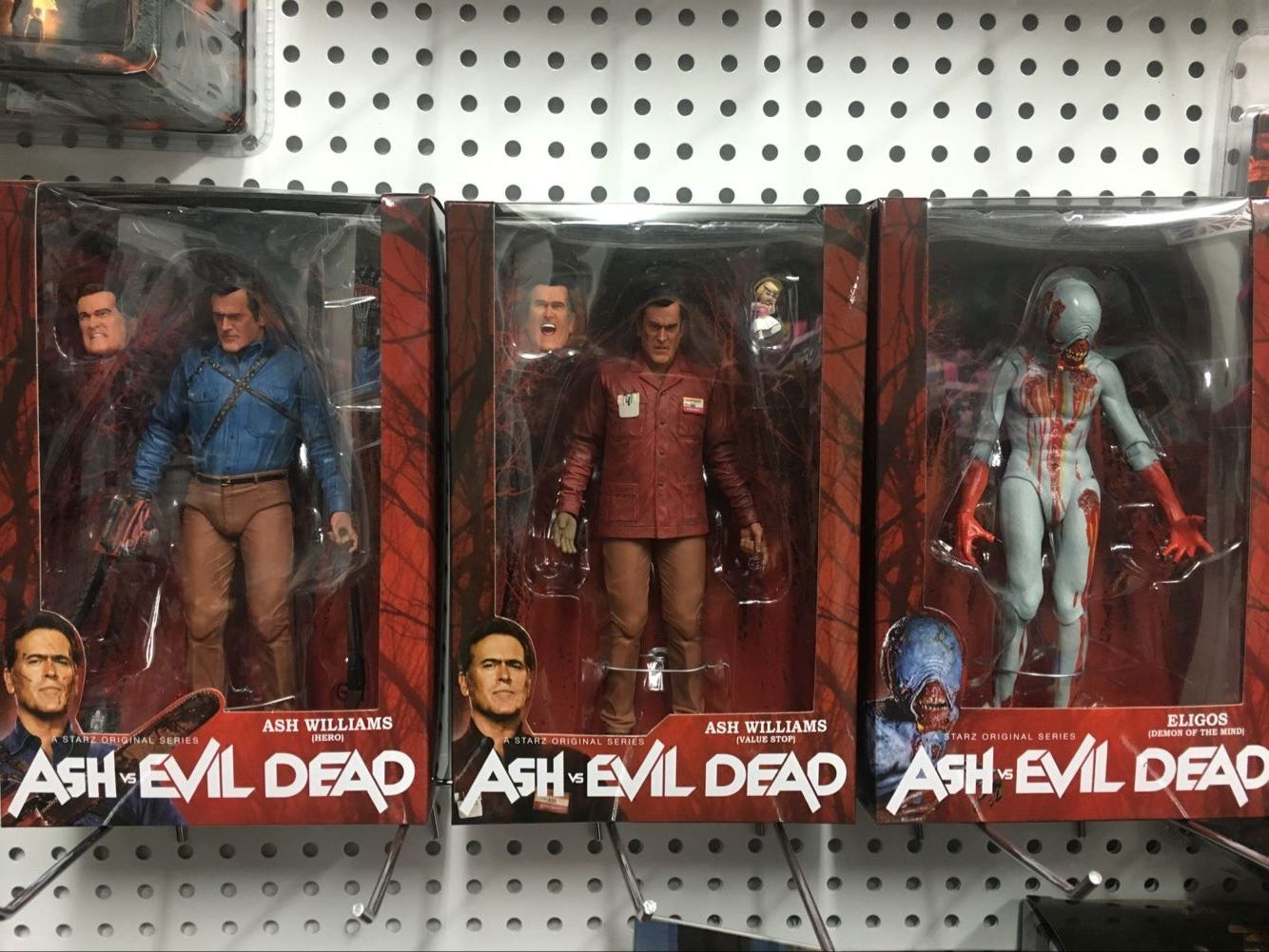 NECA The Evil Dead Ash Vs Evil Dead Ash Williams Eligos 3 pcs/set PVC Action Figure Collectible Model Toy 18cm KT3427 neca the evil dead ash vs evil dead ash williams eligos pvc action figure collectible model toy 18cm kt3427