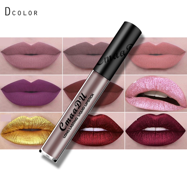 Célèbre 2017 cmaadu mat rouge à lèvres liquide pigment nude métallique  TE01