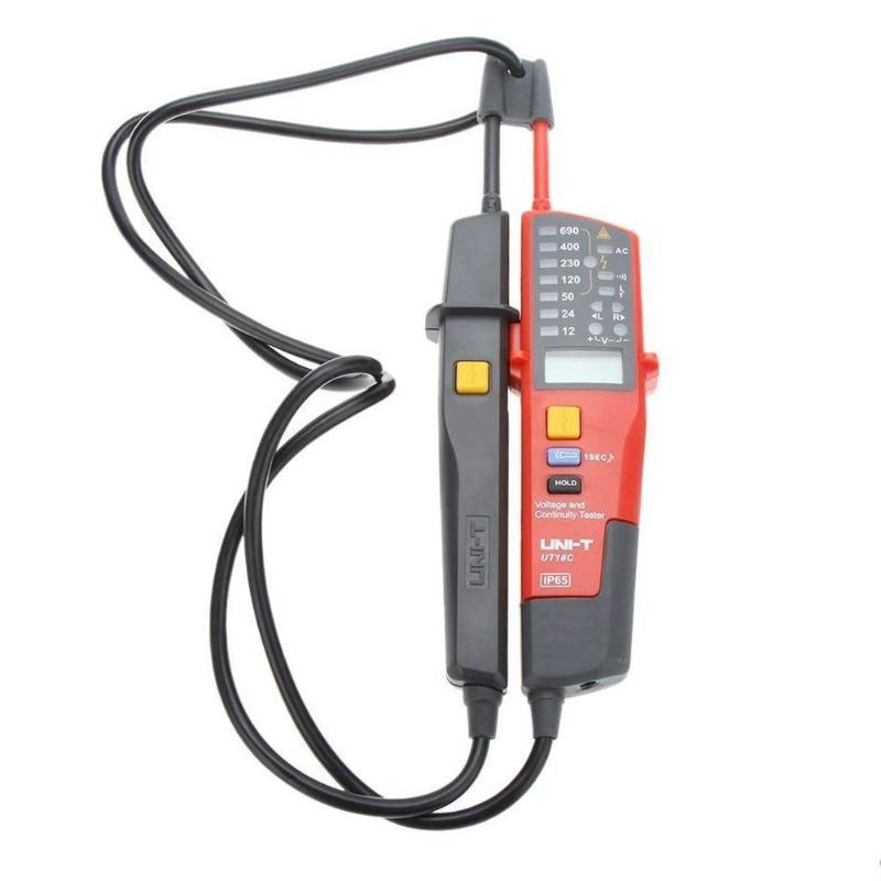 UNI-T UT18C UT18D AC/DC Voltage Testers LCD Display Auto Range Voltage Continuity Tester Date Hold RCD Test mini voltage and continuity tester multi function auto range voltage teter pen lcd digital voltmeter with date hold rcd test