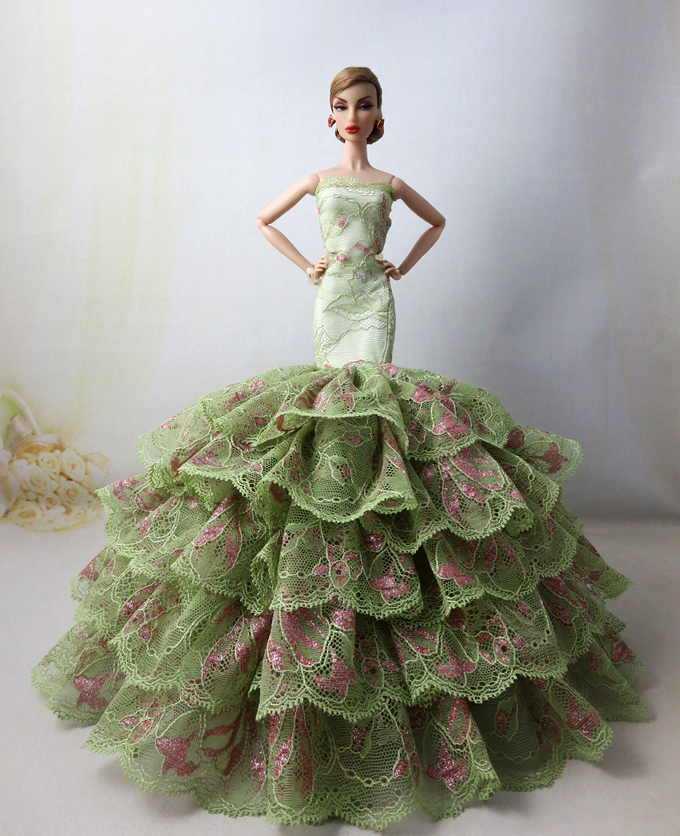 High quality Handmade Gifts For Girls fishtail skirt Slim Evening Suit Wedding Dress Clothes For Barbie 1:6 Doll BBI00298 autonomous design handmade gifts for girls doll accessories evening suit wedding dress clothes for barbie 1 6 doll bbi0048
