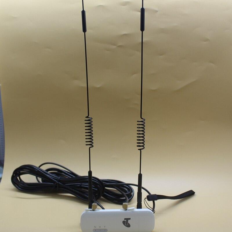 Vente chaude! Déverrouiller Huawei E8372 (plus une paire d'antenne TS 9) LTE USB Wingle LTE universel 4G USB WiFi Modem voiture wifi