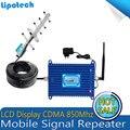 Pantalla LCD! 5 Unidad Yagi Antena GSM 850 mhz Móvil celular Repetidor de Señal Booster CDMA 2g/3g Señal repetidor Amplificador