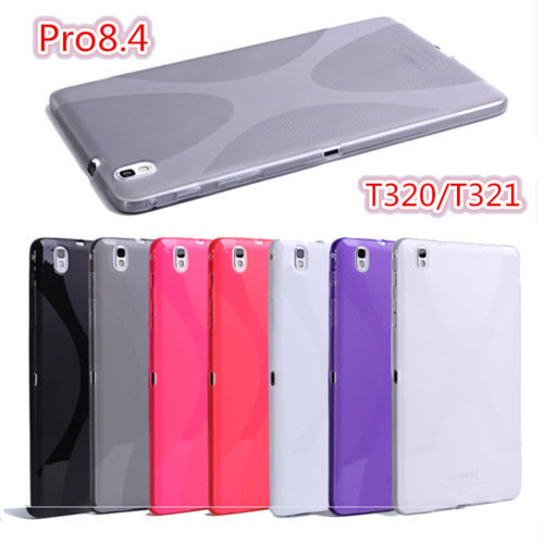 High Quality Soft X line TPU Case Semi Clear Protective Cover For Samsung Galaxy Tab Pro 8.4 T320 T321 T325 Case Silicone Cover new x line soft clear tpu case gel back cover for samsung galaxy tab s2 s 2 ii sii 8 0 tablet case t715 t710 t715c silicon case