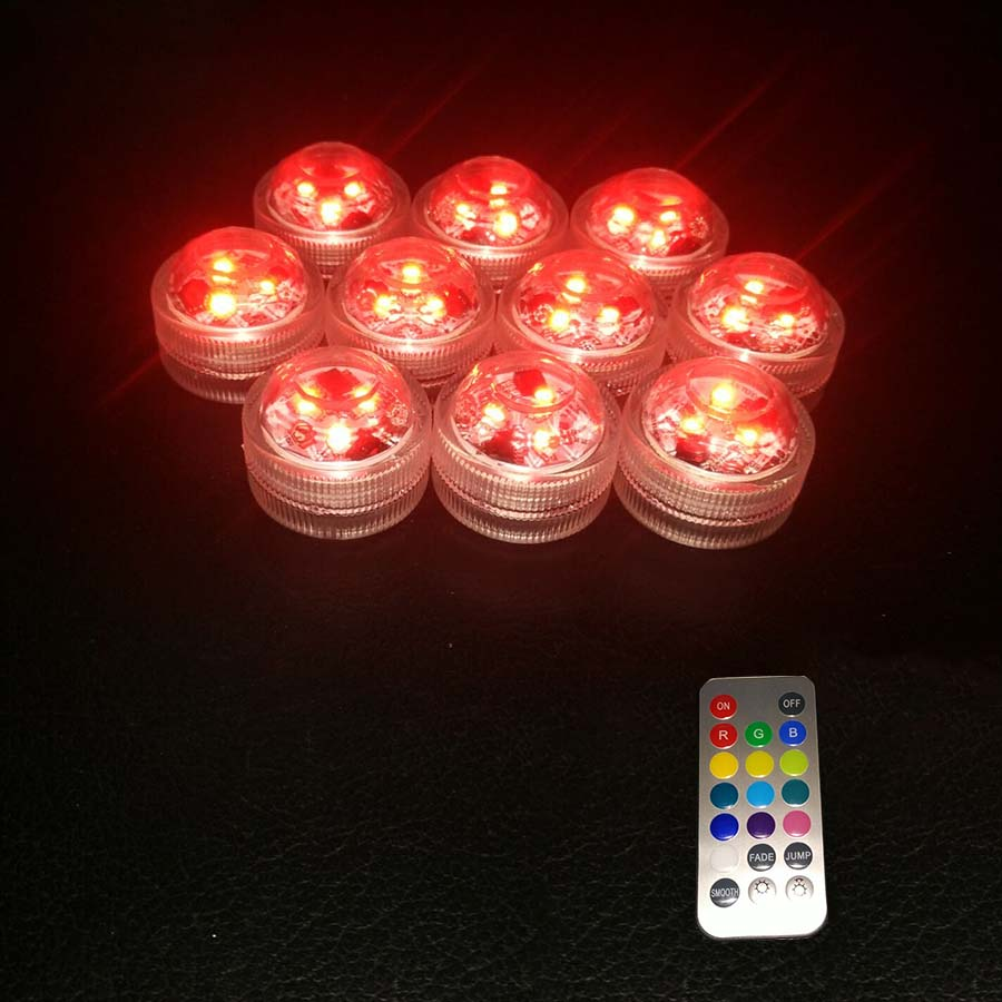 12PCS nedsänkbara vattentäta LED Mini Lights för kinesiska Round - Festlig belysning - Foto 2