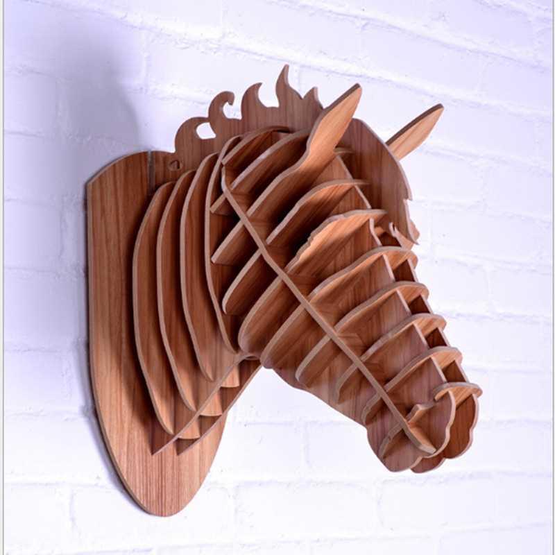 Рисунок коня, ручная работа, голова животного, украшение дома, новизны, поделки, работа, резьба по стене, произведение искусства, Скандинавское украшение дома - 3