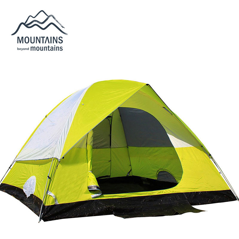 3-4 Person Double Layer Outdoor Camping Tent for Hiking Trekking Backpacking Fishing Hunting Four-Season Tent Tourist Tent outdoor waterproof folding ultralight camping tent 1 2 person double door fishing tourist tent beach tent hiking family tent