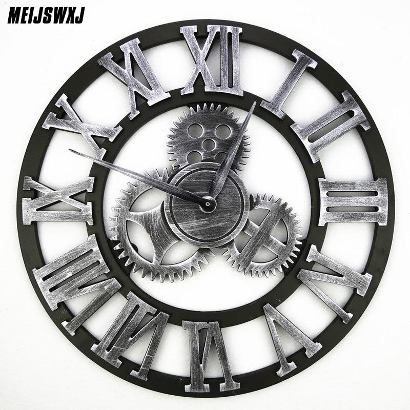 3D Ретро Шестерня настенные часы Wandklok настенные часы Saat винтажные часы Reloj De Pared большие Decoracion антикварные Klok домашний декор часы