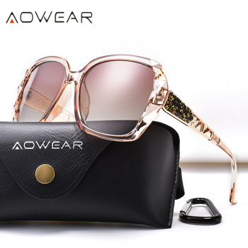 AOWEAR Oversized Sunglasses Women Polarized Square Sun Glasses for driver Black Diamond Women's Sunglass gafas de sol mujer