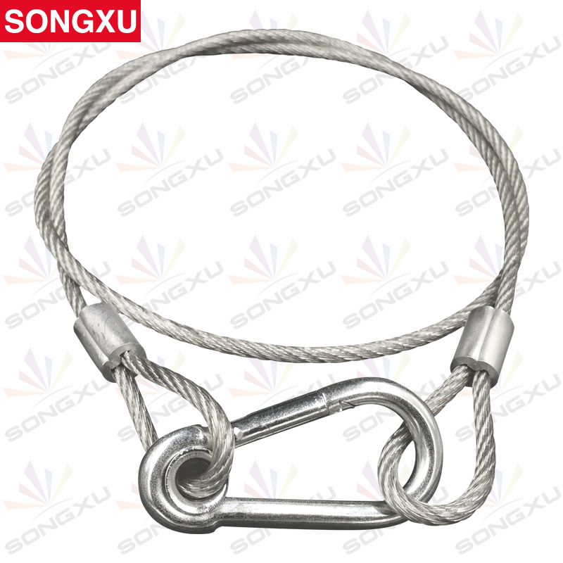 SONGXU 50pcs lot Free shipping 85cm Steel Wire Stage Light Safety Ropes Security Cables for led