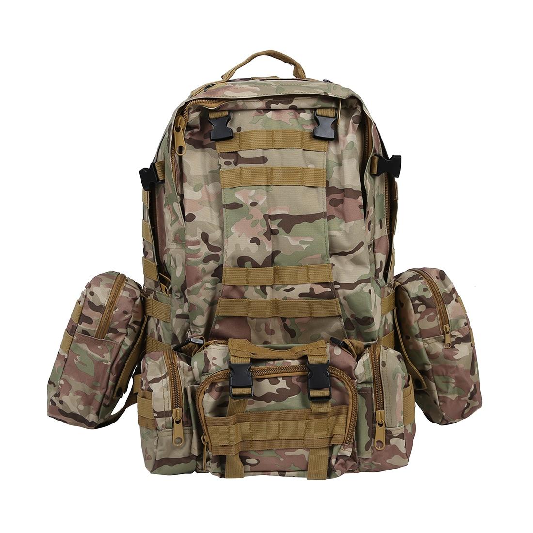 Prix pour 50 L 3 Jours D'assaut Tactique Militaire Extérieure À Dos sac à dos Camping sac-CP Camouflage/AUC Camouflage/Noir
