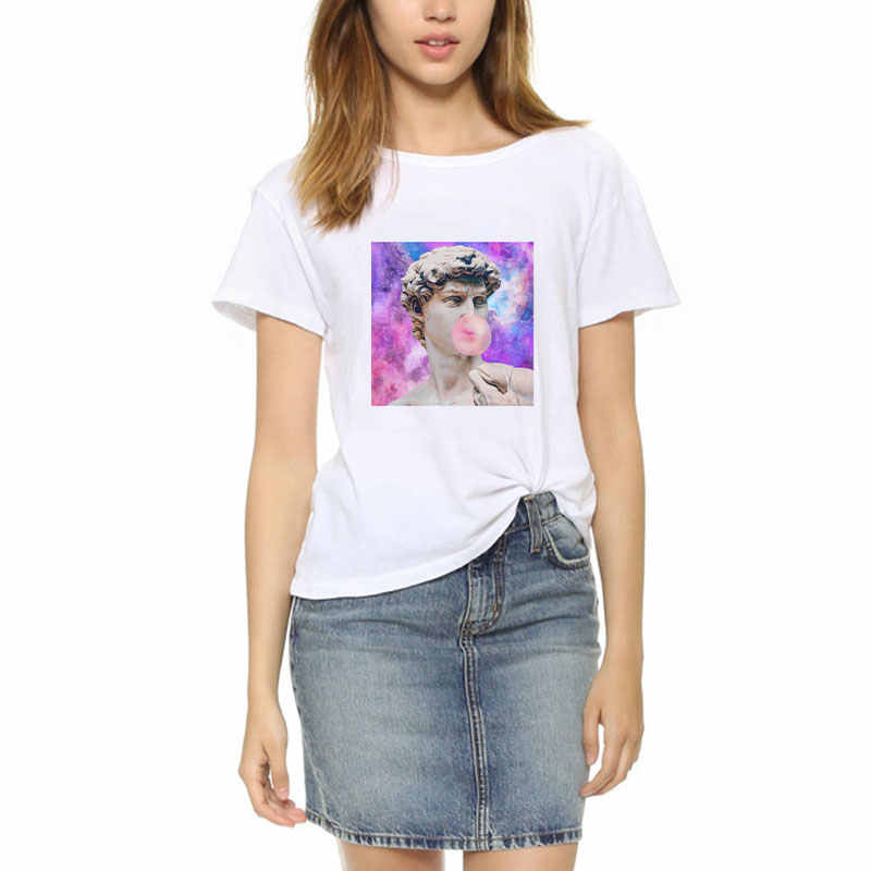 ebb23cf08 ... Plus Size Summer 2019 Womens Tumblr T Shirt Van Gogh Graphic Tees Femme  Ulzzang Harajuku kawaii ...