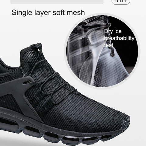 Onemix 2018 Summer New Air Running Shoes Men Outdoor Sports Shoes Breathable Jogging Sneakers shoes black training sports shoes Lahore
