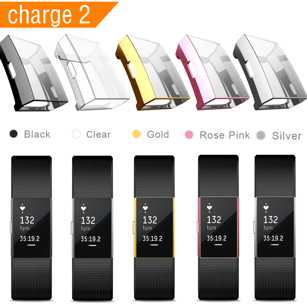 2019 Smart Watch Case For Fitbit Charge 2 Full Protection TPU Case For Fitbit Charge 2 Screen Protector For Fitbit Charge 2 Band