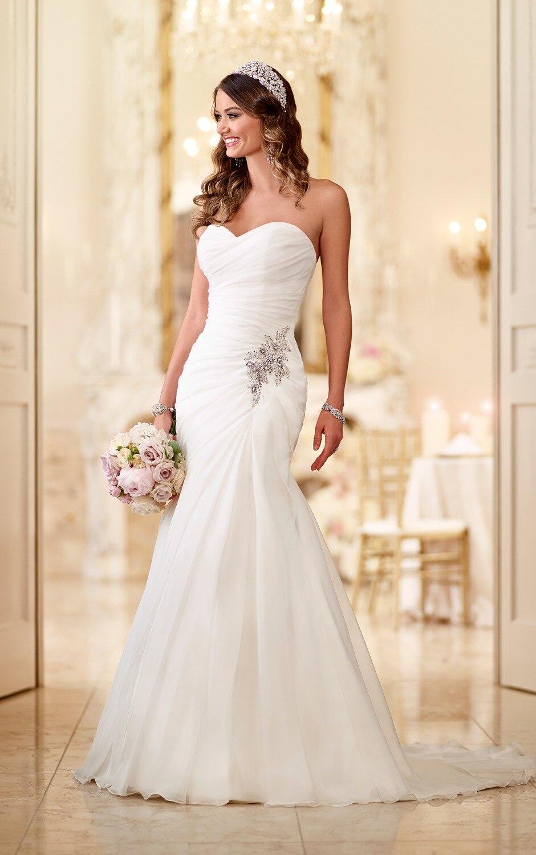 distinctive satin strapless mermaid wedding dress p strapless mermaid wedding dresses Mermaid Trumpet Wedding Dresses Loading zoom