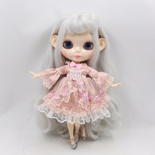 Neo Blythe Doll Princess Pink Flower Dress