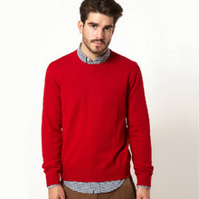 2017 Autumn Men Knitted Sweaters Sudaderas Limited Real O-neck Jumper Male 100% Cotton Pullover Sweater Solid Brand Clothing