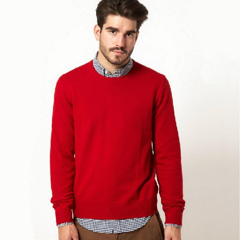 2017 Herbst Männer Gestrickte Pullover Sudaderas Begrenzte Echt O-ansatz Jumper Männlichen 100% Baumwolle Pullover Pullover Solide Marke Kleidung