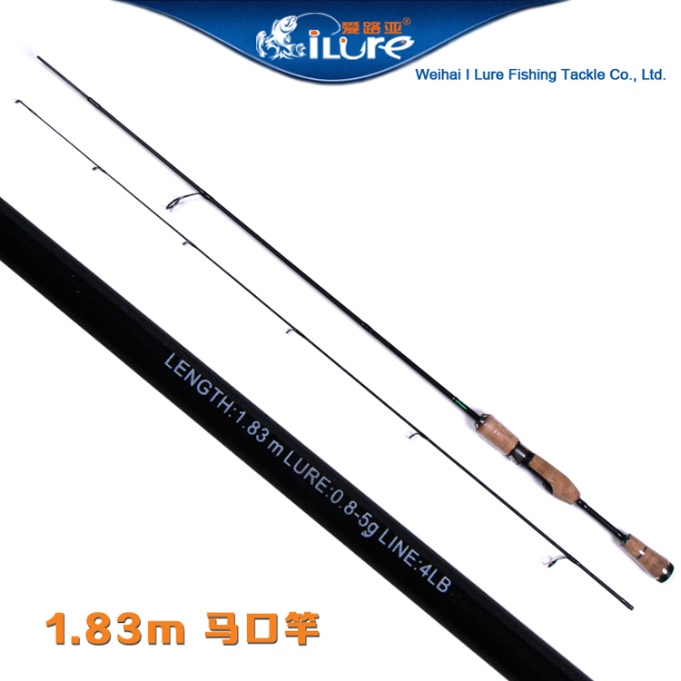 ILure 1.83m 88g XUL Action Carbon Lure Fishing Rod Ultra Light Spinning Rod 2 Sections Cork Handle 0.8-5g