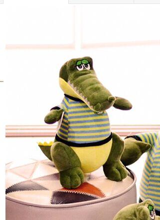 35e4a05f18a173 Kleine leuke groene krokodil speelgoed pluche streep doek krokodil pop  verjaardagscadeau ongeveer 35 cm in Kleine leuke groene krokodil speelgoed  pluche ...