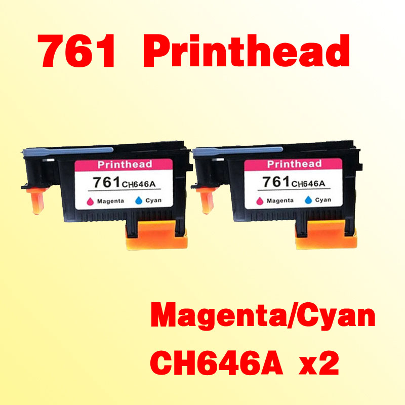 2x For hp761 CH646A Magenta/Cyan prinhead  for hp 761 T7100 T7200 hp 761 cm994a cyan