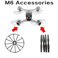 SMRC M6 RC Quadcopter Drone Spare parts propellers blades set protection ring remote controller accessories follow me Drones feima robotics j me spare parts propellers
