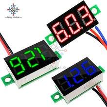Voltímetro Digital Super Mini, CC 0-30V, rojo, azul, amarillo, verde, Medidor de Voltaje LED, medidor de Panel de voltaje de coche de 0,36 pulgadas