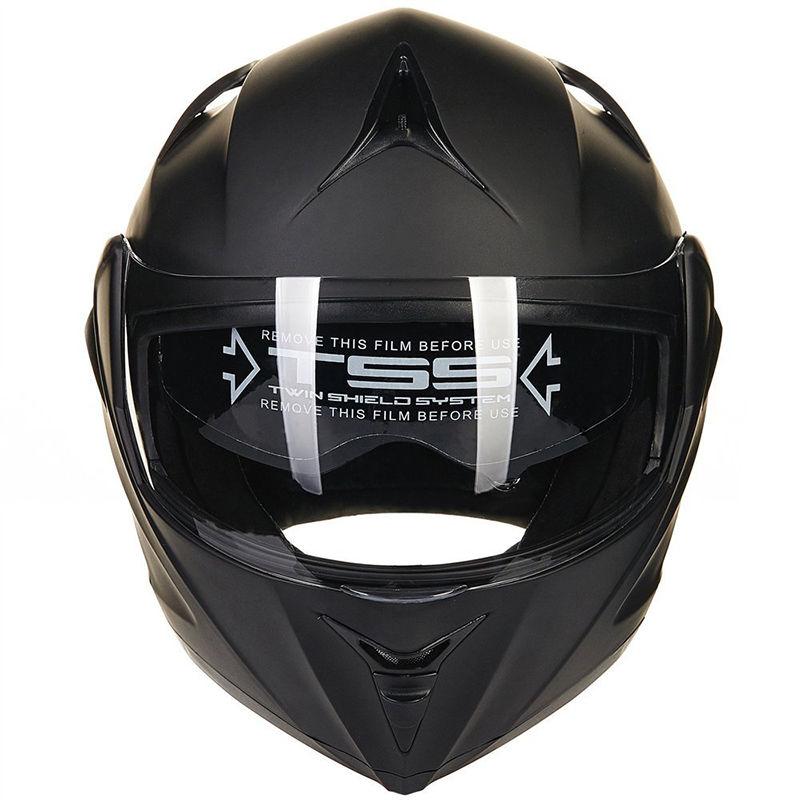 DOT Moto Casque Intérieure Amovible Flip Up Double Visor Plein Visage Moto Casque Ouvert Visage Motocross Vélo De Route MOTO Casque