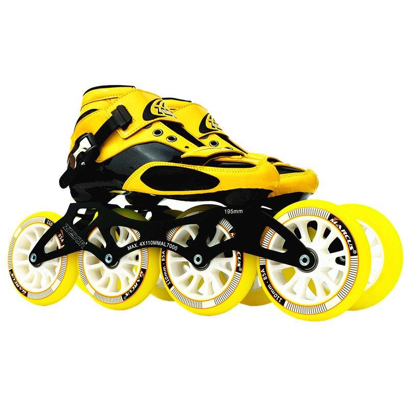 Стоит! Углерода стекловолокна Inline Скорость коньки детские взрослые Начинающий новый ручной Скорость Racing поезд уличные гонки обувь JP Корея