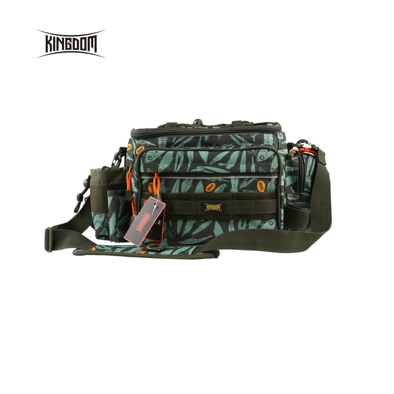 Kingdom fishing Waterproof Fishing Bag Multifunctional Outdoor Adjustable Sided Waist Shoulder Carry Strap Waist Pack lyb
