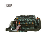 Kingdomfishing Waterproof Fishing Tackle Bag Multifunctional Outdoor Adjustable Sided Waist Shoulder Carry Strap Waist Pack Fish