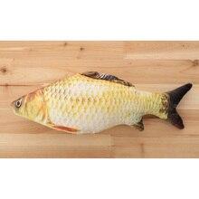 Plush Creative 3D Carp Fish Shape Playing Cat Toy