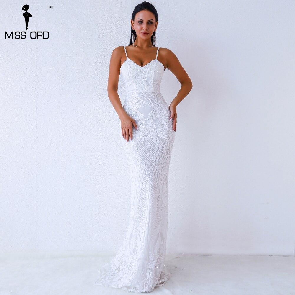 Missord 2019 Women Sexy V Neck  Off Shoulder Backless Sleeveless Sequin Dresses Female Elegant Party Maxi Dress FT9370