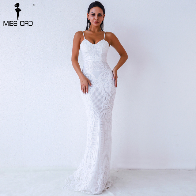 Missord 2019 Women Sexy V Neck  Off Shoulder Backless Sleeveless Sequin Dresses Female Elegant Party Maxi Dress Vestdios Ft9370 by Miss Ord