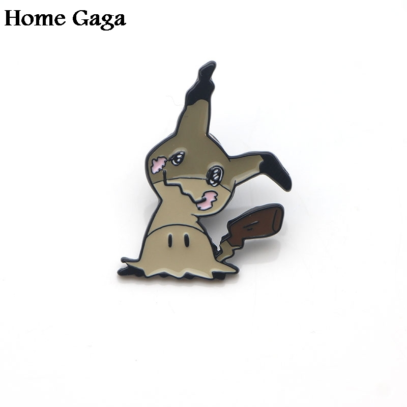 Home & Garden 10pcs/lot Homegaga Mimikyu Pocket Monster Cartoon Zinc Tie Pins Backpack Clothes Brooches For Men Women Hat Badges Medal D1649 Promoting Health And Curing Diseases