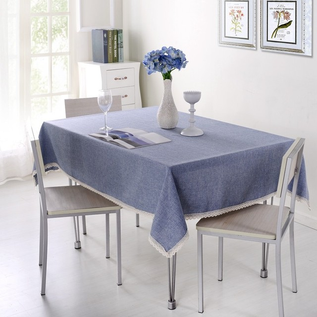 1 Piece Solid Color Tablecloth For Dining Table Cloth Rectangle Table Linen  Table Cover For