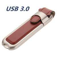 100 Real Capacity Business Leather Usb Flash Drive USB Flash 3 0 Memory Drive Stick Pen