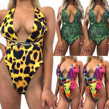 Women Leopard Print Bandeau Bikini Set Push-up Swimwear Swimsuit Bathing Suit Colorful Beachwear
