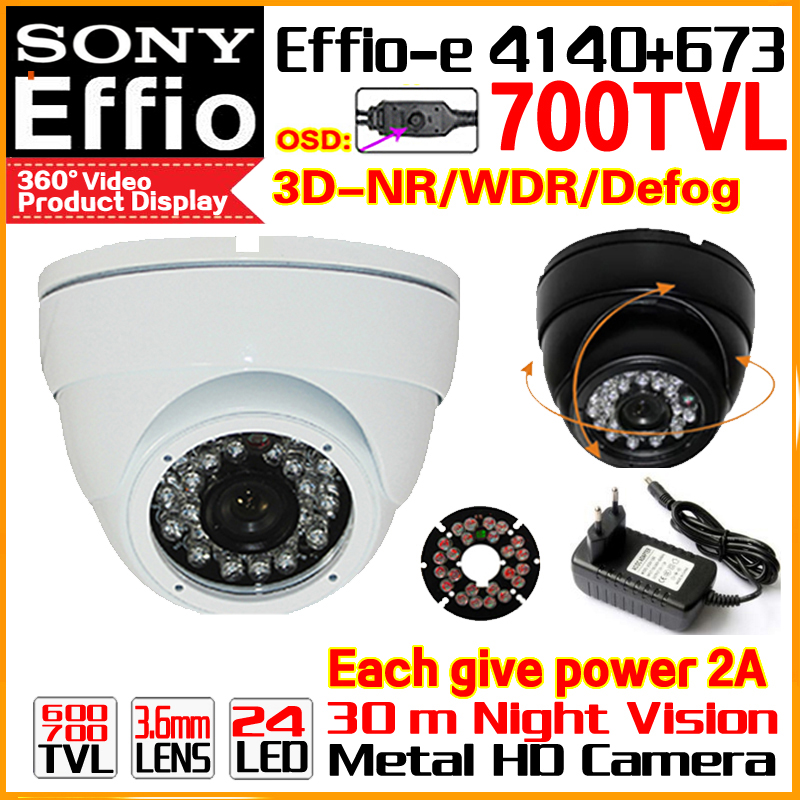 High Quality Metal Indoor Dome 1/3Sony Sensor CCD Effio-e Real 700TV HD Cctv Camera Waterproof Infrared Ir Color Home Video OSD