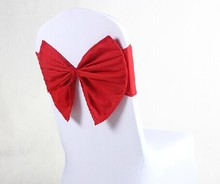 fahion bowknot for chair covers wedding banquet decoration