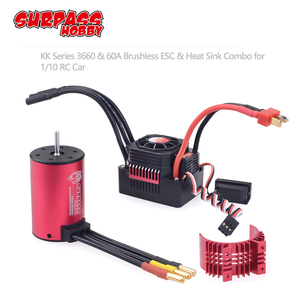 Image 1 - SURPASSHOBBY KK Waterproof Combo 3660 5.0mm 1750KV 2200KV 2600KV 3100KV 3500KV Brushless Motor w/Heat Sink 60A ESC for RC Car