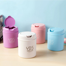 Mini Waste Bin Desktop Garbage Basket Table Kitchen Living Room Trash Can Home Roll Swing With Lid