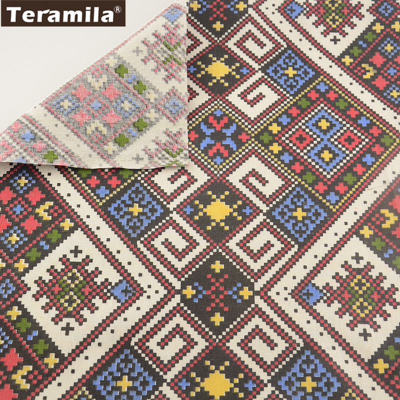 Teramila textiles para el hogar material de costura de la tela mantel de lino de