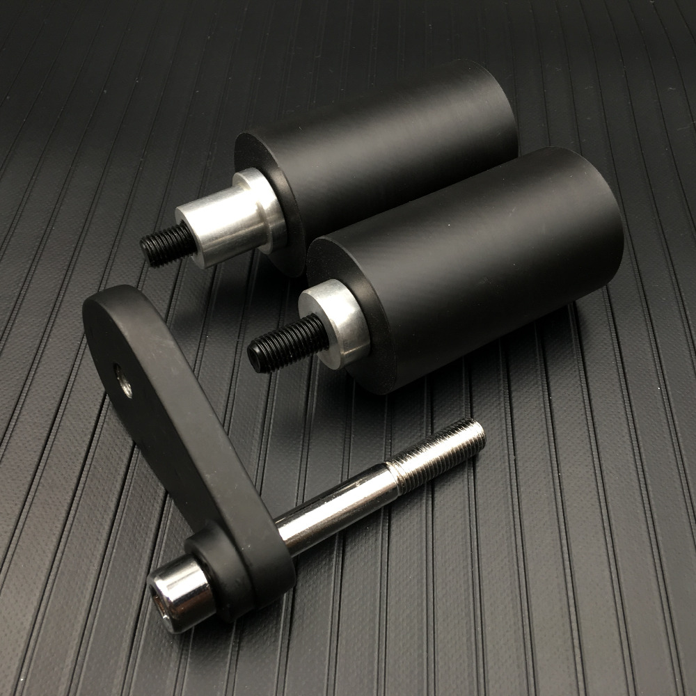 Motorcycle No Cut Frame Slider Protector For 2003-2005 Yamaha Yzf R6 2006-2009 R6S Black